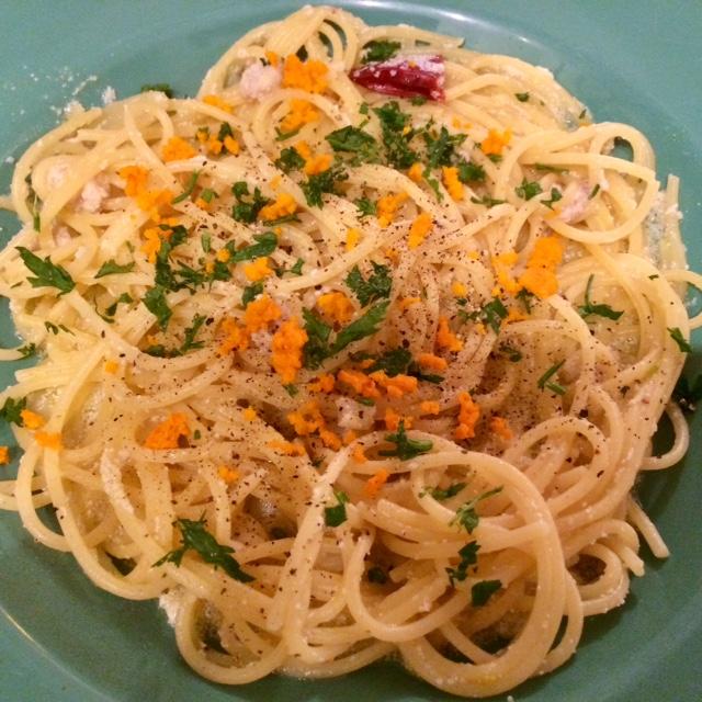 spaghetti co bottarga